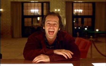 """Jack Nicholdson in """"The Shining"""""""
