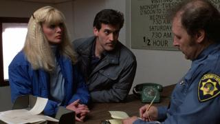 """Bruce Campbell in the 1980's slasher """"Maniac Cop"""""""