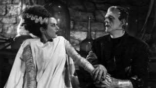 The monster meets his mate in Bride of Frankenstein