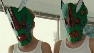 """Elias and Lukas wear homemade masks in """"Goodnight Mommy"""""""